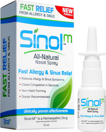 Sinol Allergy Relief Nasal Spray with Capsaicin (15 ml)