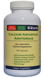 E-Zorb Calcium  Aspartate Anhydrous (180 Caps) Save 12%