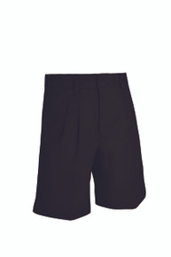 Male Pleated Front Shorts - Black Only