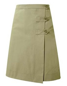 Girl's Solid Two-Tab Skort - SFX