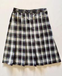 "Girls Plaid Knife Pleat Skirt +4"" - VDMA"
