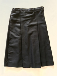 "Girls Solid Navy Box Pleat Skirt +4"" - VDMA"
