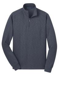 Port Authority® Slub Fleece 1/4-Zip Pullover w/Embroidery Logo - Trinity