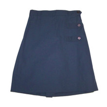 Girls Two-Button Tab Solid Skort - Navy Only