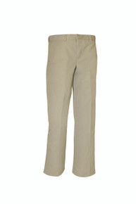 Male Flat Front Pants - KHK & BLK