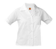Pointed Collar Short Sleeve Broadcloth Oxford - OLOS