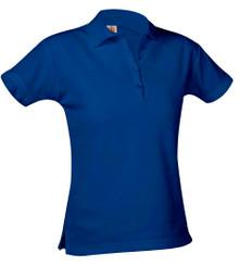 Girls Pique Knit Short Sleeve Shirt