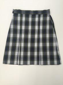 Girls Box Pleat Plaid Skirt - ICCS
