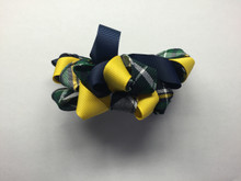 Ribbon Burst Barrette Plaid 1B