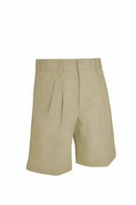 Male Pleated Front Shorts - KHK & NVY