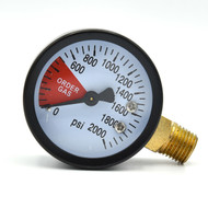 """This is a replacement gauge for a CO2 regulator so you know how much you have left in the tank.  1/4"""" NPT fitting."""