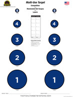 Multi-Use Target - Blue - Qty of 25