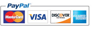 We accept all major Credit Cards & Paypal!