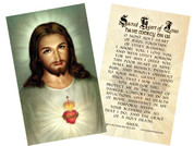 Traditional Sacred Heart Holy Card