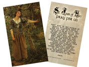 St. Joan of Arc Holy Card