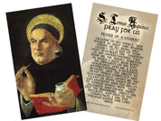 St. Thomas Aquinas Holy Card