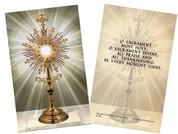 Monstrance Holy Card