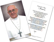 Pope Francis Formal Laminated Holy Card