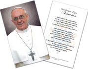 Spanish Pope Francis Formal Laminated Holy Card