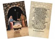 """""""Adoration (Nativity)"""" by Nellie Edwards Holy Card"""