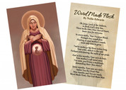 """""""Word Made Flesh"""" by Nellie Edwards Holy Card"""