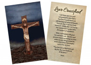 """Love Crucified"" by Nellie Edwards Holy Card"