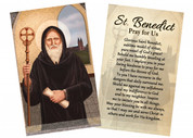 """St. Benedict"" by Nellie Edwards Holy Card"