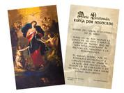 """Spanish Mary Undoer of Knots """"Madre del Amor"""" Prayer Holy Card"""