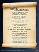10 Commandments Wall Graphic