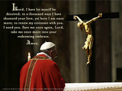 Pope Francis' Daily Prayer of Turning To Christ Wall Graphic