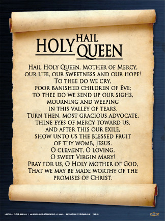 Hail Holy Queen Wall Graphic Steubenville Press