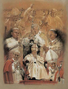 Pope John Paul II Collage Wall Graphic