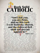 Rock Solid Catholic (Popes of the Church) Wall Graphic