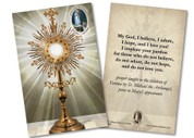 "Fatima ""My God, I Believe, I Adore"" Holy Card"