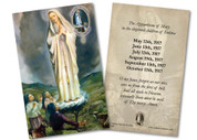 Our Lady of Fatima with Children 100 Year Anniversary Holy Card