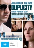 DUPLICITY (2009) DVD
