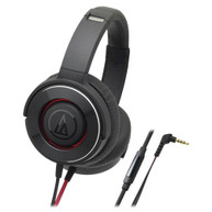 AUDIO-TECHNICA SOLID BASS HEADPHONES W/ 53MM DRIVERS - BLACK/RED