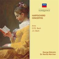 GEORGE MALCOLM - ARNE, C.P.E. BACH, J.C. BACH: HARPSICHORD CONCERTOS CD