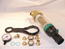 "Honeywell F76S1007 1/2""Water Filter 100 Micron W/Gauge"