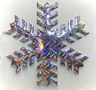 """12"""" - 24"""" HOLOGRAPHIC SNOWFLAKE STYLE B"""