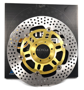 MetalGear Gold front brake rotor L/R alloy centre 21-007-A-GL