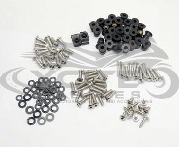 Fairing bolts kit, stainless steel, Kawasaki ZX-6R 2007 2008 BT141