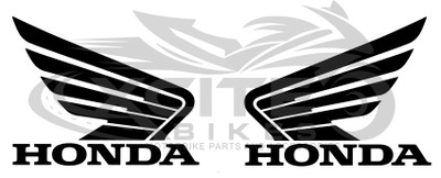 2 x Genuine Honda wings tank decal, pearl red 110mm x 86mm 0SYWG-D9P-K11