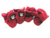 Petrageous Fleece Dog Boots X-Small Red