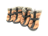 Petrageous Cheyenne Faux Suede Dog Boots Light Brown Large