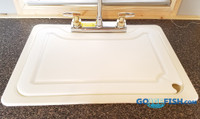 Sink Cover Double Porcelin 1-Piece