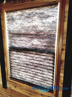 Blinds Ice Castle 30x42 Window BROWN 28.25x40