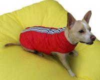 Cherry Red Puffa Dog Vest