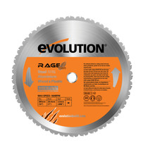 "Evolution 14"" Multipurpose Blade - 36 teeth x 1"" Arbor - for RAGE2 Chop Saw, RAGE355BLADE"