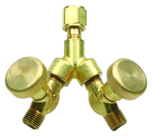 """""""Y"""" Connector WITH  Shut-Off Valves"""